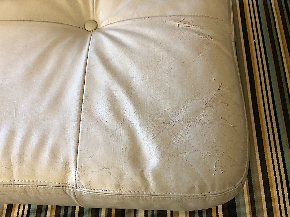 Leather cracking in corner