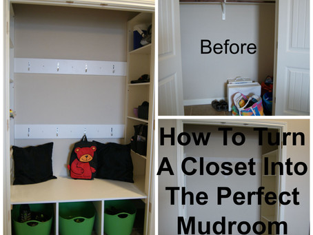 How To Turn a Closet Into The Perfect MudRoom For You