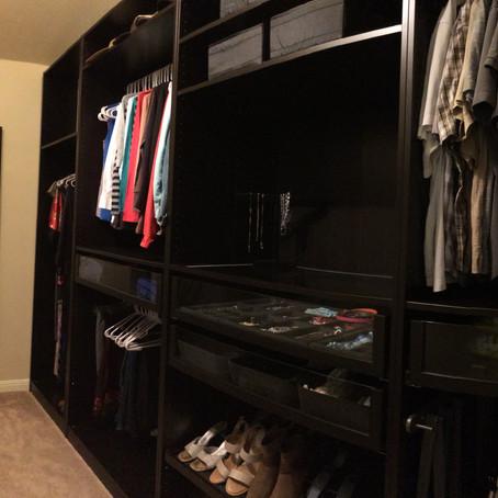 Master Bedroom Closet Renovation with IKEA's PAX Wardrobes