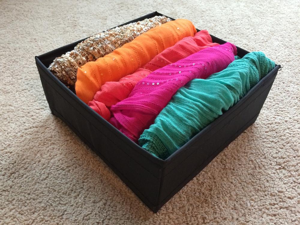 Folding scarves