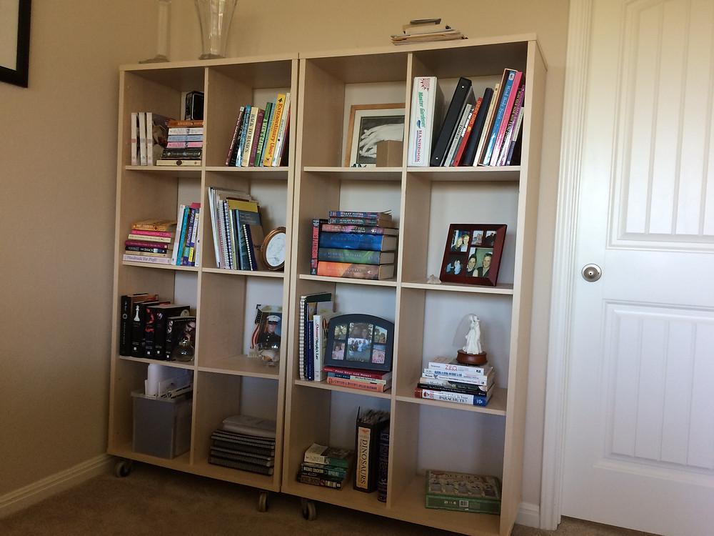 unfinished bookcase