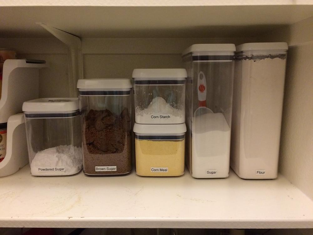 Pantry baking supplies