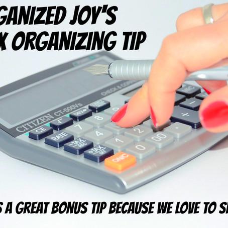 Organized Joy's #1 Tax Organizing Tip
