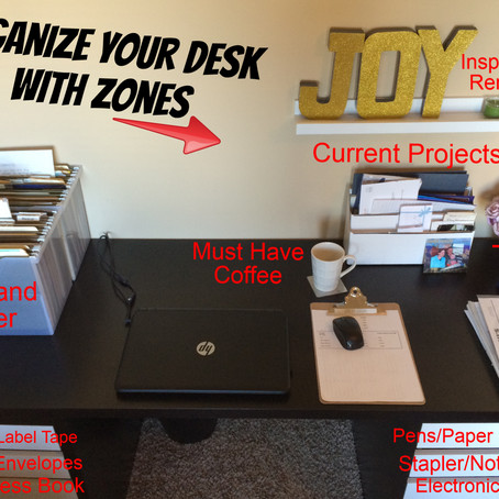 Organize Your Desk With Zones