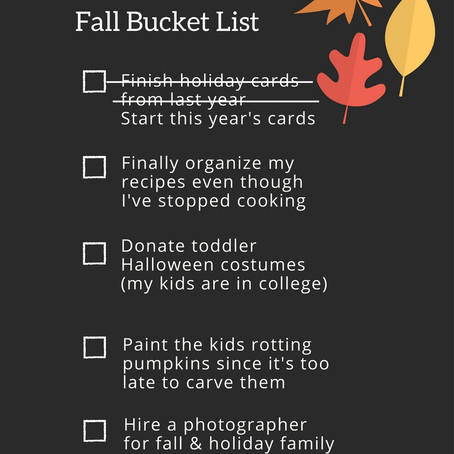 The Procrastinator's Fall Bucket List