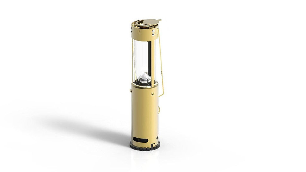 Brass Bushlite Candle Lantern & Accessory Bag