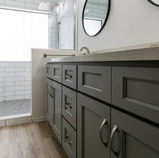 Master with Grey Shaker Cabinets