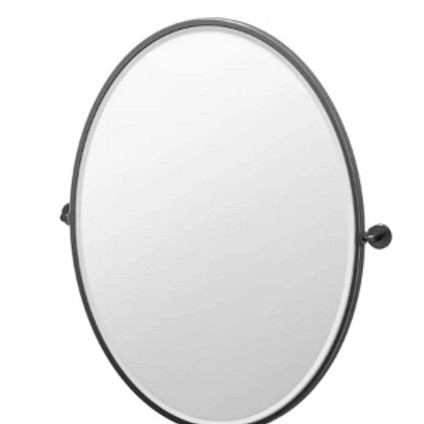 Framed Oval Mirror, 33 inch