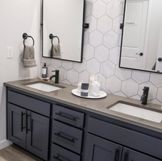 Naval Blue with white Hex Bath