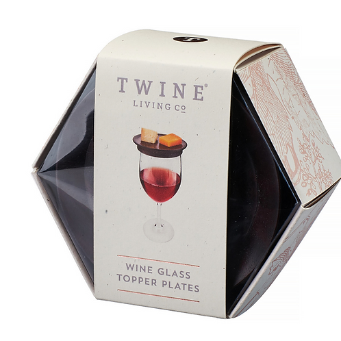 Twine Wine Glass Topper Appetizer Plates