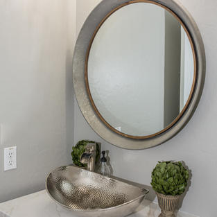 Eceletic chic powder room