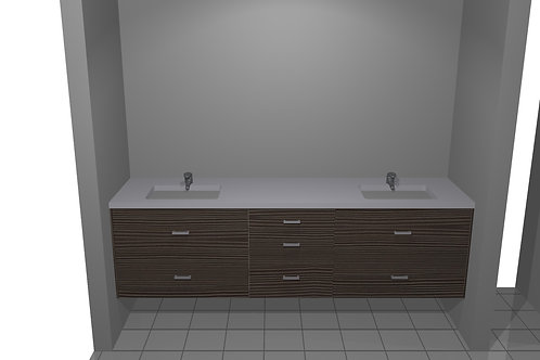 Floating Vanity Double drawer sink bases Complete Package $ 3,950