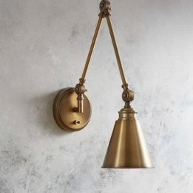 1-Light Swing Arm Lamp Finish: Warm Brass