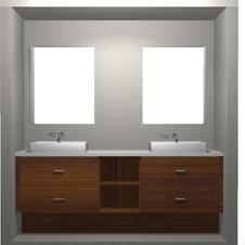 Bathroom Design dbl sinks floating