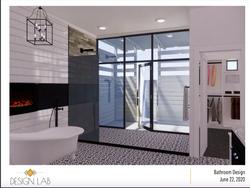 Bathroom with Indoor / Outdoor shower