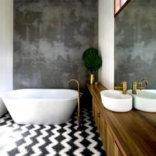 Mid-Century Guest Bath