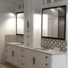 Double sink with linen design Master