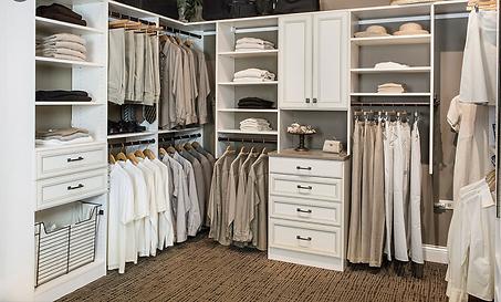 White shaker closet