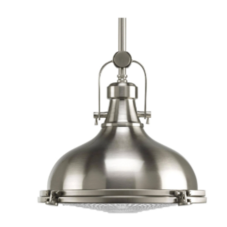 Brushed Nickel Pendant Light Fresnel Collection