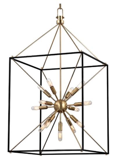 Mid-Century Modern Cage 13 Light Chandelier
