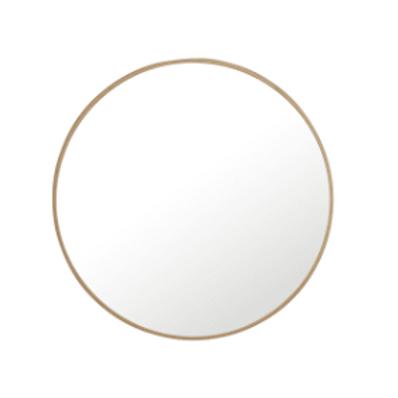 42 Inch Diameter Circular Flat Metal Framed Wall Mirror