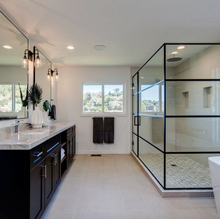 Elegant yet causual Master Bath