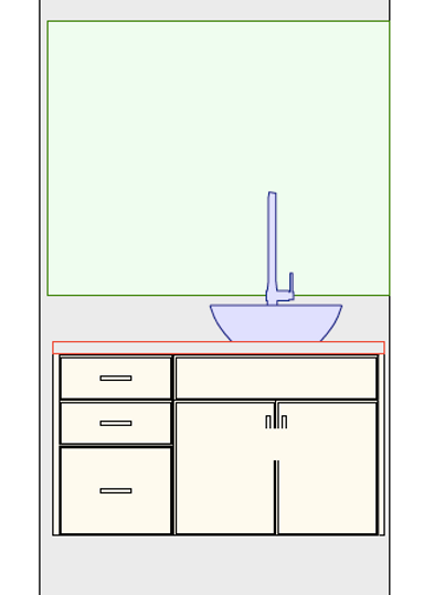 Floating Vanity with drawers