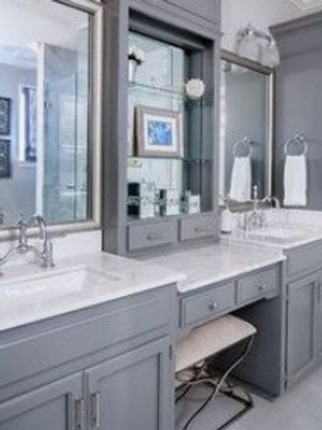 Double Sinks with Vanity in the middle Complete Package $ 3,729