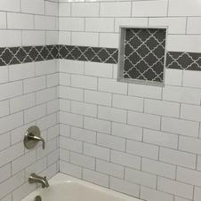 Guest Bath Tile details Simple but elegant
