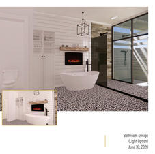 Bathroom Design Cad with outdoor shower