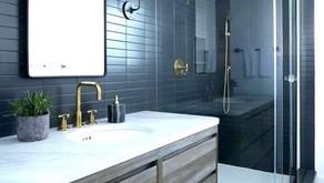 Modern Farmhouse Art Deco Bathroom