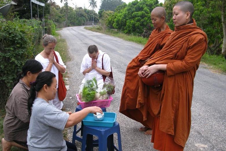 Bhikkunis on Alms Round