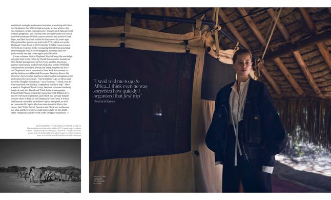 Porter Magazine photoshoot production in  Kenya