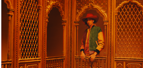 Gucci photography campaign Tunisia - red hat