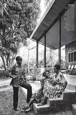 Lupita Nyong'o in Kenya with US Vogue Magazine