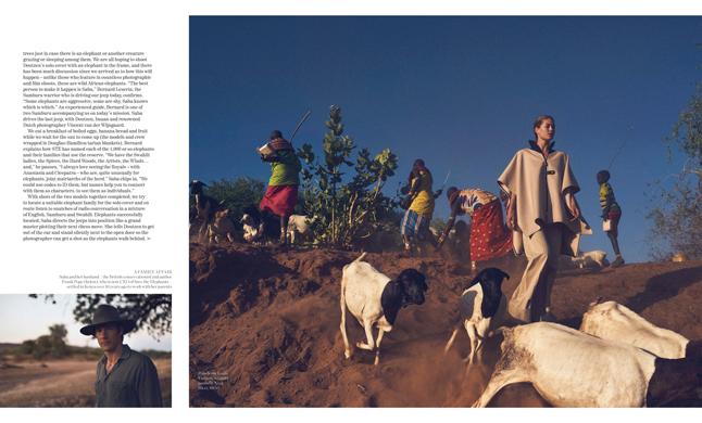 Porter Magazine Wildlife Photography Production in Kenya