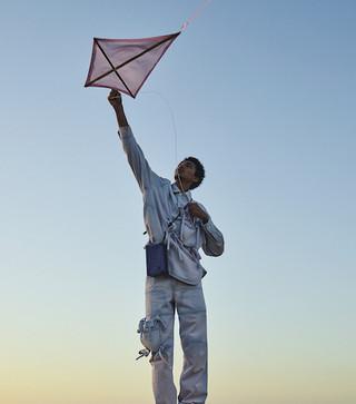 Louis Vuitton photograph - man with flag