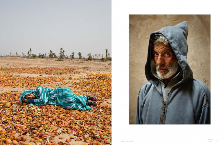 Another Man Photoshoot in Morocco with Nike clothing