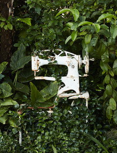 Louis Vuitton photography - rustic sewing machine