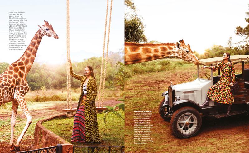 Harpers Bazaar produuction - photographed in Giraffe Manor in Kenya