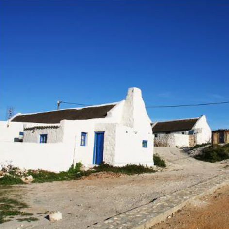 Arniston bay, South Africa Fisherman Thatch roof houses