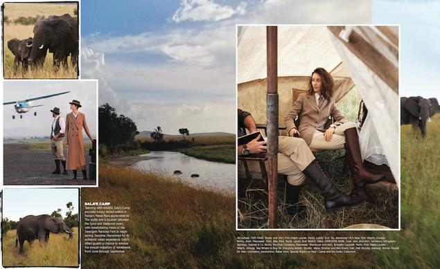 US Harpers Bazaar fashion photography production in Kenya
