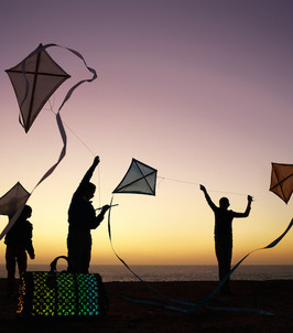 Louis Vuitton photograhy production - flying flags