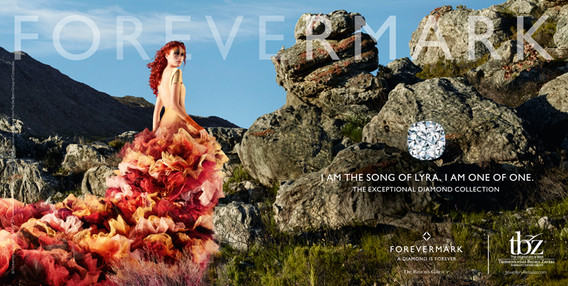 Forevermark diamond photography campaign produced in Cape Town