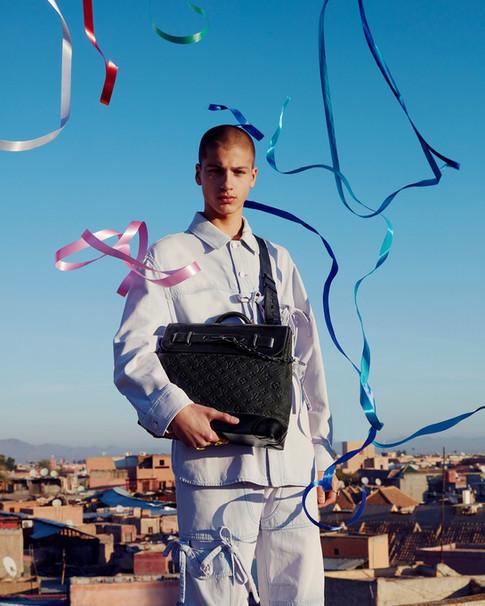 Louis Vuitton fashion shoot - Footprints