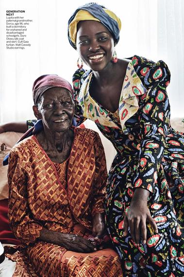 Lupita Nyongo returns to hometown - photoshoot produced in Kenya