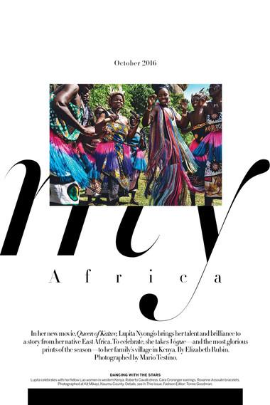 Lupita Nyongo in Kenya - My Africa