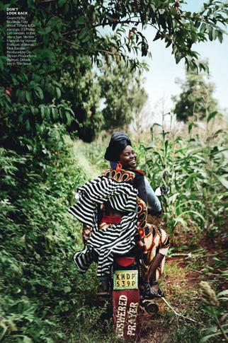 US Vogue photoshoot production with Lupita Nyongo