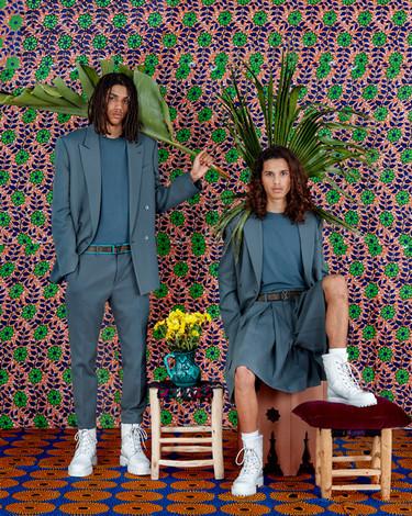 Louis Vuitton photographic production - leaves