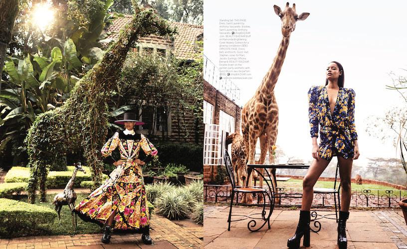 Harpers Bazaar photoshoot production - Giraffe Manor in Kenya